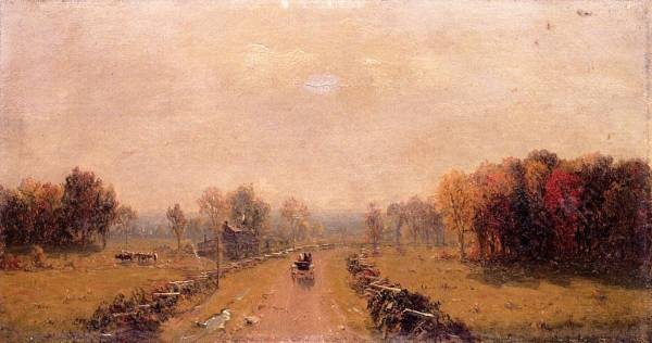 Carriage on a Country Road